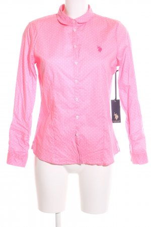 U.s. polo assn. Hemd-Bluse pink-weiß Punktemuster Casual-Look