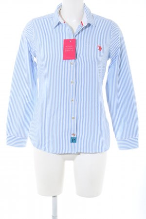 U.s. polo assn. Hemd-Bluse blau-weiß Streifenmuster Business-Look