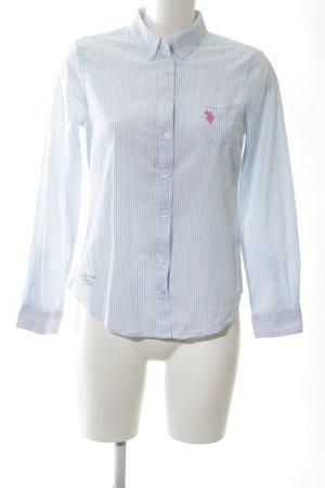 U.s. polo assn. Hemd-Bluse weiß-blau Streifenmuster Business-Look