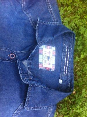U.s. polo assn. Camicia denim blu-blu acciaio Cotone