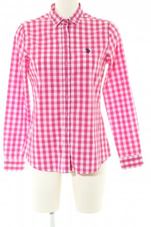 U.s. polo assn. Karobluse pink-weiß Karomuster Business-Look
