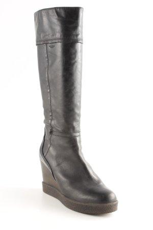 U.s. polo assn. Stivaletto con zeppa marrone scuro-marrone-nero stile casual