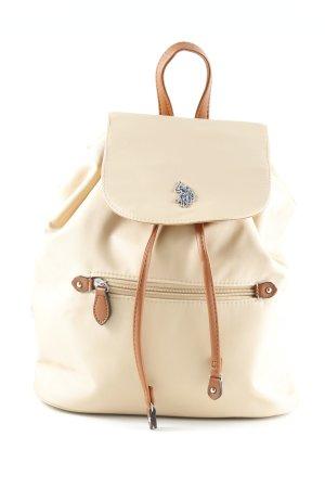 U.s. polo assn. Mini sac à dos beige-cognac style simple