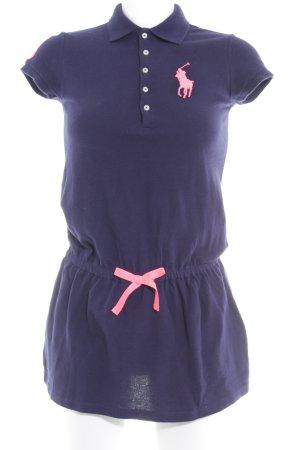 U.s. polo assn. Polo-Shirt dunkelblau-pink sportlicher Stil