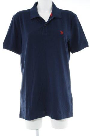 U.s. polo assn. Polo-Shirt dunkelblau-rot Casual-Look