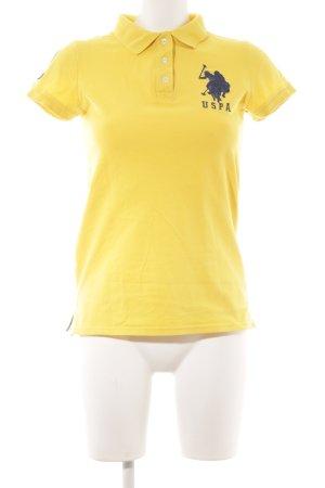 U.s. polo assn. Polo-Shirt gelb-dunkelblau Reiter-Look