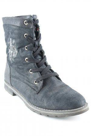 U.s. polo assn. Patucos con cordones negro-gris look casual