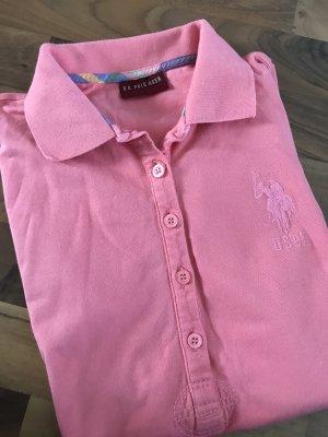 U.s. polo assn. Colletto camicia rosa-azzurro