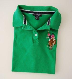 U.S. POLO ASSN. (Since 1890), Damen T-Shirt, Grasgrün, Neuartig, Größe: M