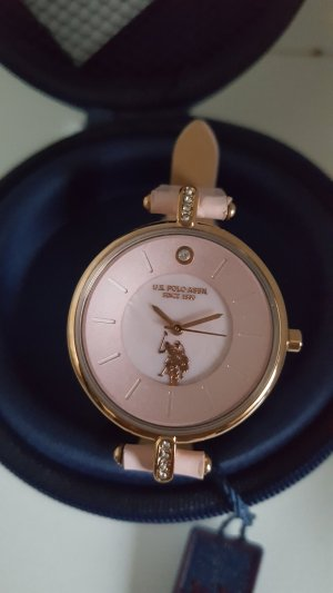 U.s. polo assn. Watch With Leather Strap multicolored