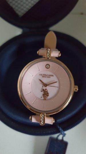 U.s. polo assn. Montre avec bracelet en cuir multicolore
