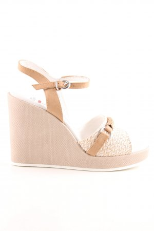 U.s. polo assn. Wedges Sandaletten beige-wollweiß Beach-Look