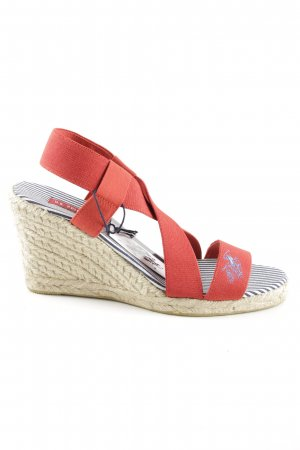 U.s. polo assn. Wedges Sandaletten rot-wollweiß Casual-Look