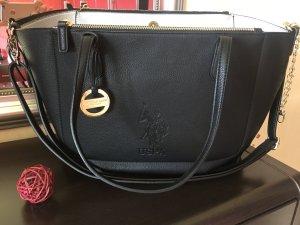 U.s.polo schwarz Leder Tasche