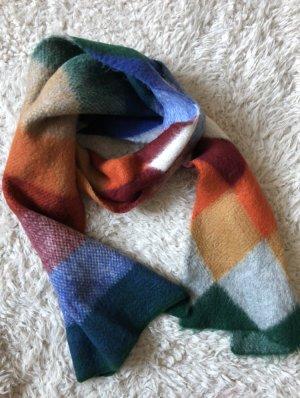 Zara Écharpe en laine multicolore tissu mixte