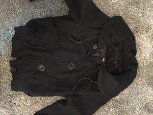 (Übergangs-) Jacke schwarz mit schönen großen Knöpfen