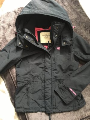 Abercrombie & Fitch Jack met capuchon donkerblauw-roze