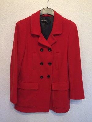 Marc Aurel Veste longue rouge laine vierge
