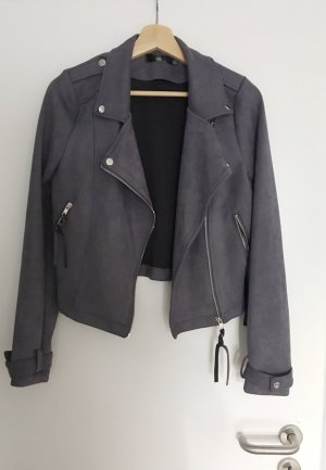 Missguided Biker Jacket grey