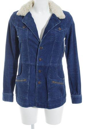 Übergangsjacke creme-blau Street-Fashion-Look