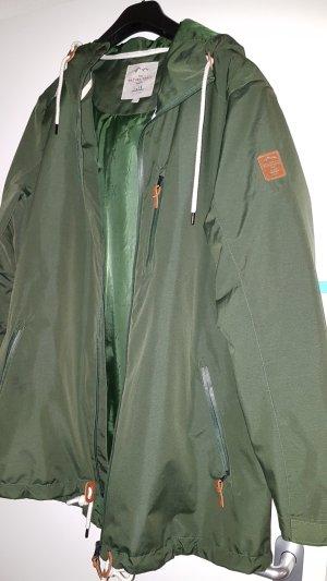 Tchibo / TCM Veste longue gris vert-kaki
