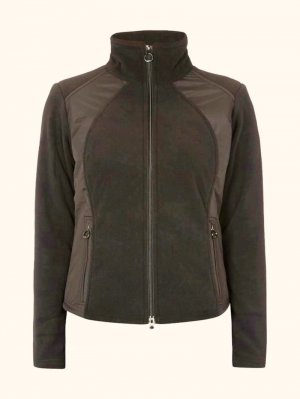 Wellensteyn Fleece Jackets brown-red polyester