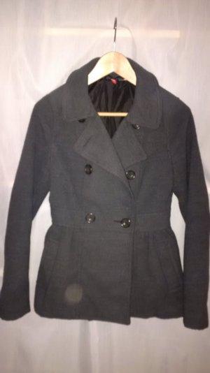 Übergangsjacke, grau, Gr.36, tailliert mit Knöpfen