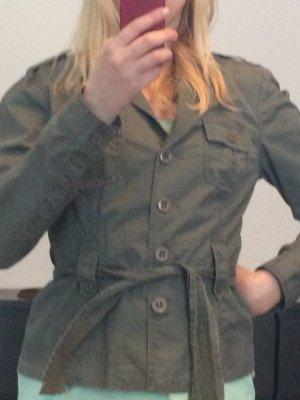 Übergangsjacke khaki im Military Look