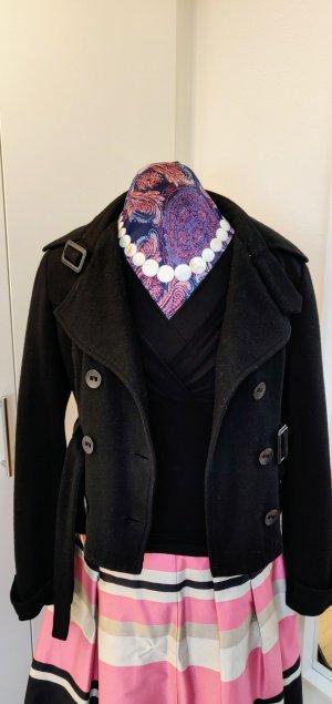 Übergangsjacke Kurzjacke, elegant, schwarz, Gr. 40, Wolle / Viskose