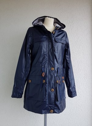 DESIGNER'S Raincoat dark blue mixture fibre