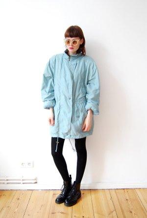 Zware regenjas grijs-groen-lichtblauw