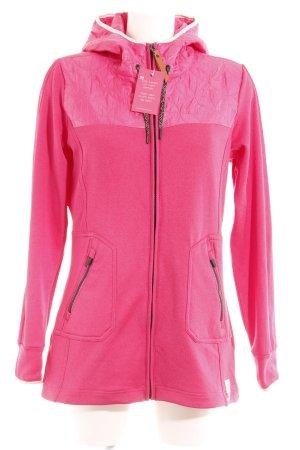 Übergangsjacke pink-schwarz Casual-Look