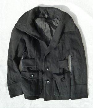 Übergangsjacke schwarz Basic Klassisch H&M