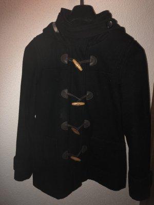 Übergangsjacke schwarz mit Kapuze