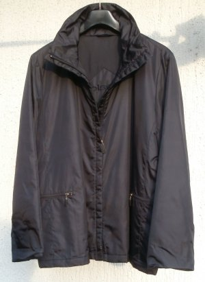 Übergangsjacke schwarz, Nylon m. Reißverschluß Gr. 40