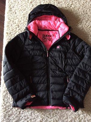 Superdry Gewatteerd jack zwart-roze