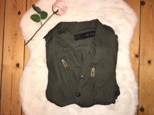 Zara Basic Militair jack groen-grijs-olijfgroen