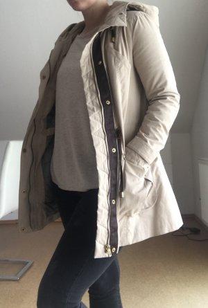 Zara Basic Veste mi-saison beige clair