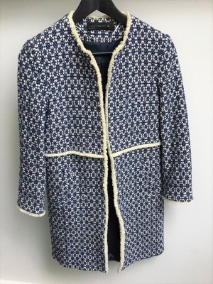 Zara Manteau mi-saison blanc cassé-bleu foncé