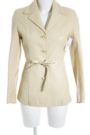 Cappotto mezza stagione crema-giallo chiaro stile casual