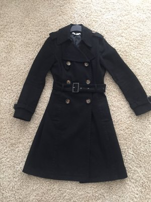 Zara Between-Seasons-Coat black cotton