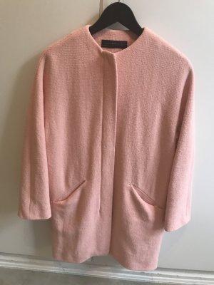 Zara Between-Seasons-Coat light pink