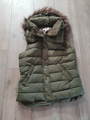H&M Chaleco con capucha caqui