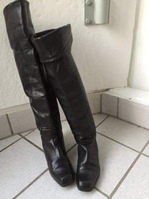 Überknie hohe Leder Stiefel, Gr. 39, Preis: 25€ (von 35€ reduziert)!