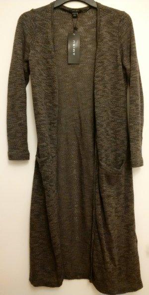 überlanger graubrauner Amisu Cardigan Größe S mit Taschen