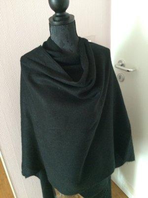 Überwurf Poncho in schwarz