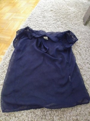 Vero Moda Empiècement de blouses bleu foncé