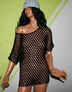 Tunique-blouse noir tissu mixte