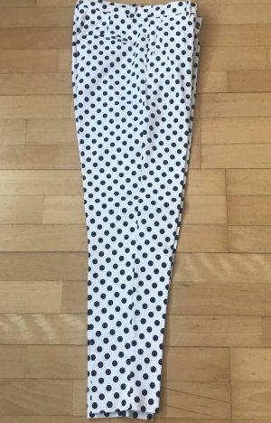Uterqüe Five-Pocket Trousers natural white-dark blue