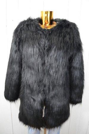 UF UNREAL FUR Damen Jacke WANDERLUST COAT Kunstpelz Schwarz Fake Fur Gr.S